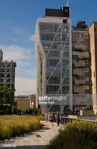 New office and condominium buildings rise along the High Line on September 10 2011 in New York City The High Line is a onemile long New York City...