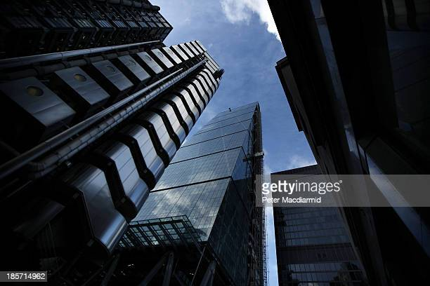 A new office development at 122 Leadenhall Street also known as 'The Cheese Grater' is located next to the Lloyd's of London building on October 24...