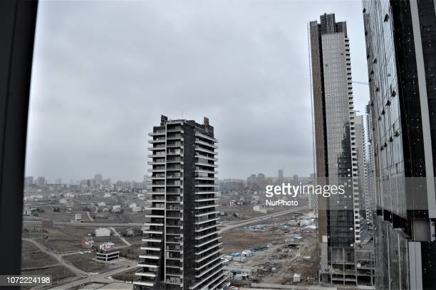 New office towers are seen in the upperclass neighborhood of Cayyolu some 25 kilometers outside the city center of Ankara Turkey on December 12 2018...