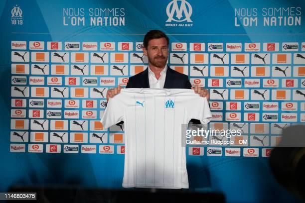 New Olympique de Marseille Coach Andre VillasBoas Press Conferenceat Centre RobertLouis Dreyfus on May 29 2019 in Marseille France
