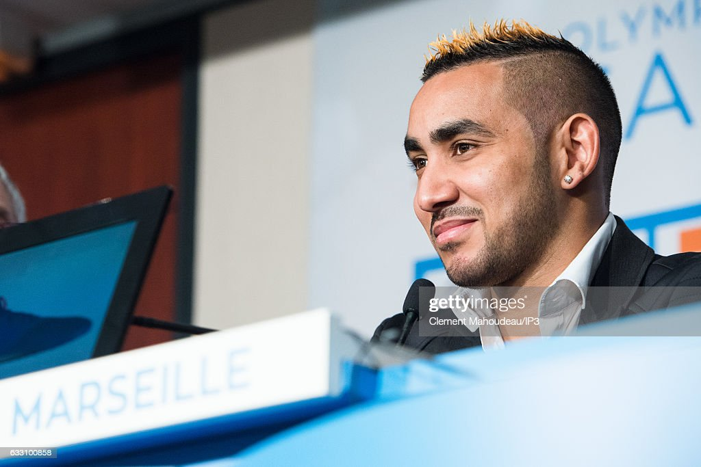 New Olympique de Marseille player Dimitri Payet answers journalists' questions during a press conference at the Robert Louis Dreyfus stadium on January 30, 2017 in Marseille, France. The French international has signed a four and a half year contract with the French Ligue 1 club.