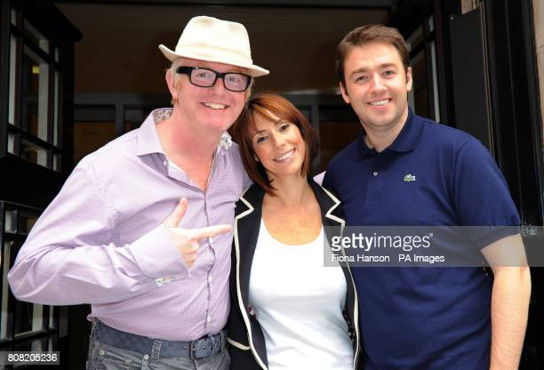 New One Show presenters Alex Jones and Jason Manford stand outside Western House London with Chris Evans after appearing on his Radio 2 breakfast show