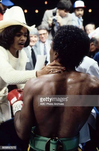 Juanita Wilkinson Sugar Ray Leonard at Superdome Nov 25 1980