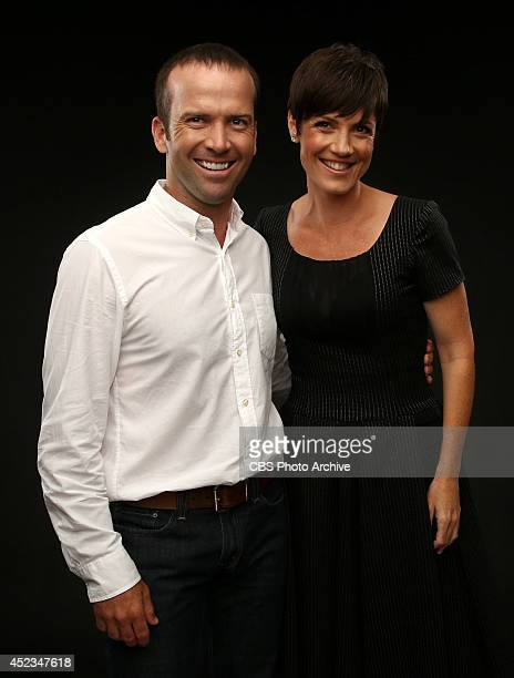 CBS' 'NCIS New Orleans' actors Lucas Black and Zoe McLellan pose for a portrait during CBS' 2014 Summer TCA tour at The Beverly Hilton Hotel on July...