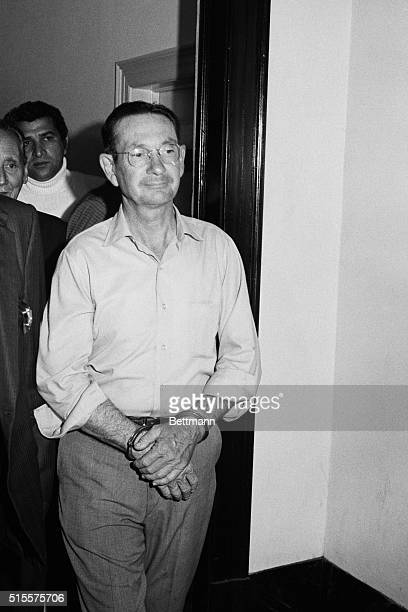 New Orleans: Byron De La Beckwith, the accused killer of civil rights leader Medgar Evers, is questioned by reporters as deputies lead him to court...