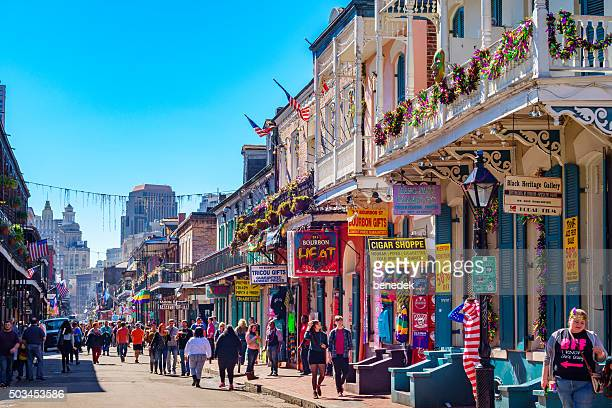new orleans colorful french quarter - new orleans french quarter stock photos and pictures