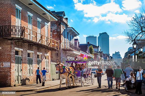 new orleans french quarter louisiana usa - new orleans french quarter stock photos and pictures