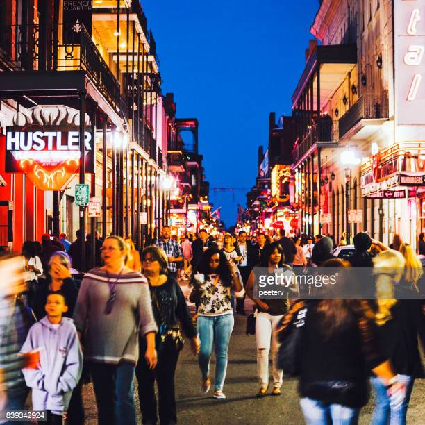 new orleans, french quarter - new orleans mardi gras stock photos and pictures