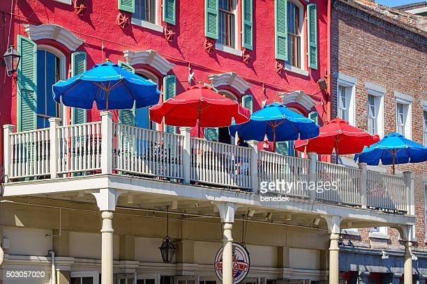 new orleans french quarter restaurant louisiana usa - french quarter stock photos and pictures