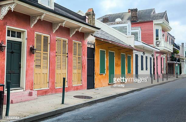 New Orleans French Quarter Row of Colorful Buildings