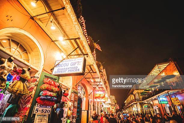 new orleans french quartier for christmas - new orleans christmas stock pictures, royalty-free photos & images