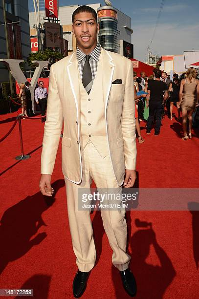 New Orleans Hornets player Anthony Davis arrives at the 2012 ESPY Awards at Nokia Theatre LA Live on July 11 2012 in Los Angeles California