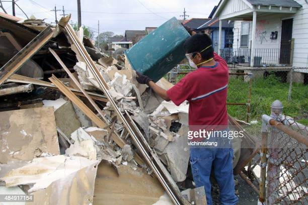 new orleans hurricane katrina recovery, march, 2006 - hurricane katrina stock photos and pictures