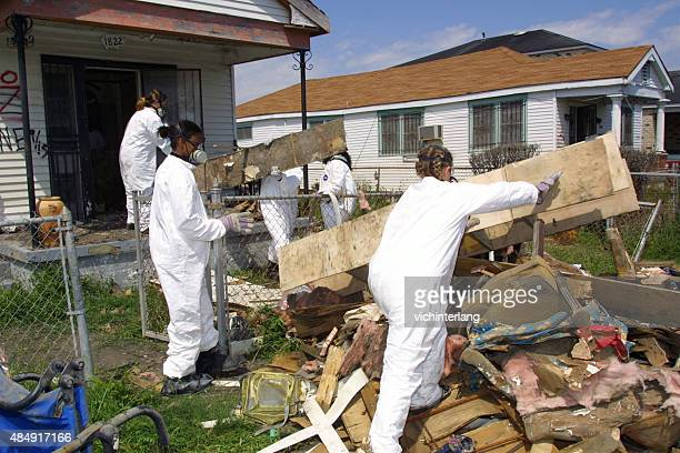new orleans hurricane katrina recovery, march, 2006 - hurricane katrina stock pictures, royalty-free photos & images