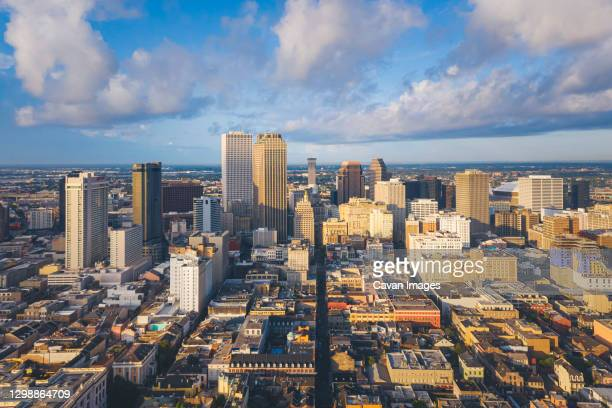 new orleans in the morning from above - new orleans city stock pictures, royalty-free photos & images