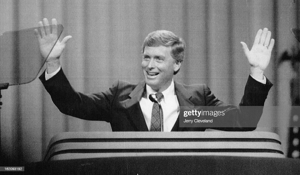 AUG 18 1988, AUG 19 1988; New Orleans, La - Special to the Denver post - Sen. Dan Quayle reacts to A : News Photo