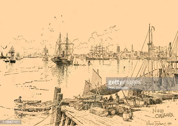 New Orleans Louisiana circa 1890 From Cassell's History of England Special Edition Vol V [Cassell and Company Limited London Paris New York Melbourne...