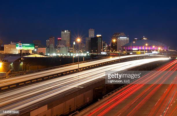 new orleans, louisiana downtown skyline - new orleans city stock pictures, royalty-free photos & images