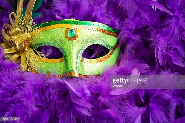 new orleans mardi gras decoration - mardi gras new orleans stock photos and pictures