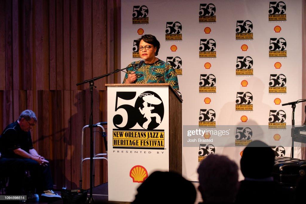 50th Anniversary Jazz Fest Press Conference : News Photo