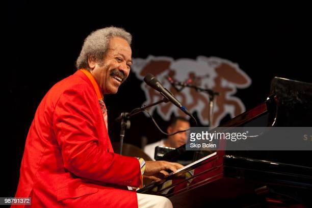 New Orleans musician composer and record producer Allen Toussaint of The Allen Toussaint Jazzity Project performs during day 6 of the 41st annual New...