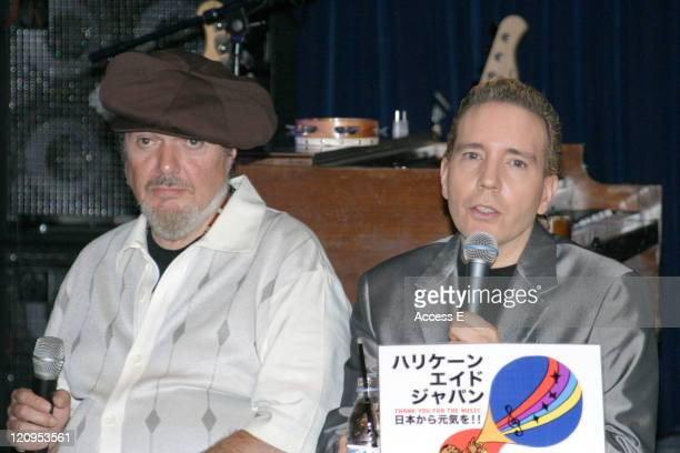 New Orleans musician Dr John and Dave Spector participate in a press conference sponsored by Japanese jazz musicians to announce fundraisers for the...