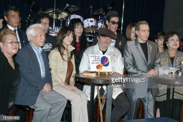 New Orleans musician Dr John Dave Spector and other music and entertainment personalities participate in a press conference sponsored by Japanese...
