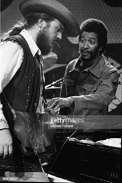 New Orleans musicians Dr John and Allen Toussaint at the Montreux Jazz Festival Switzerland 1st July 1973