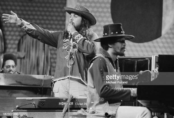 New Orleans musicians Dr. John and Allen Toussaint performing at the Montreux Jazz Festival in Montreux, Switzerland, 1st July 1973.