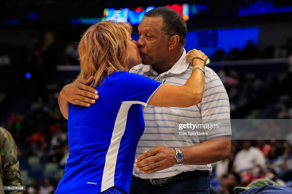 New Orleans Pelicans Head Coach Alvin Gentry Greets Power