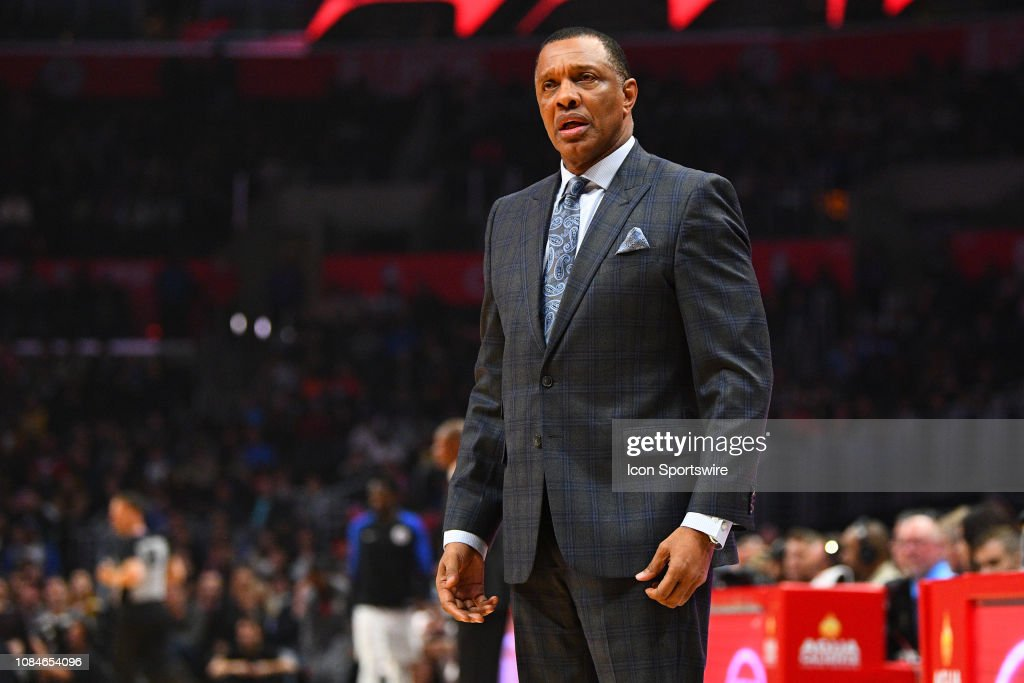 New Orleans Pelicans Head Coach Alvin Gentry Looks On During