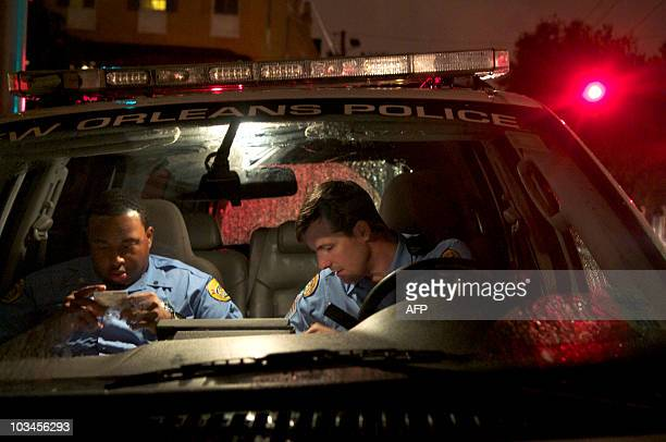 New Orleans Police Sgt James Young and rookie officer Devon Swanier patrol the Garden District in New Orleans LA August 16 2010 �There have been 840...