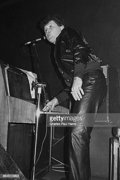 New Orleans rhythm and blues and rock'n'roll artist Frankie Ford performs at the Half Moon Putney on March 29 1984 in London UK