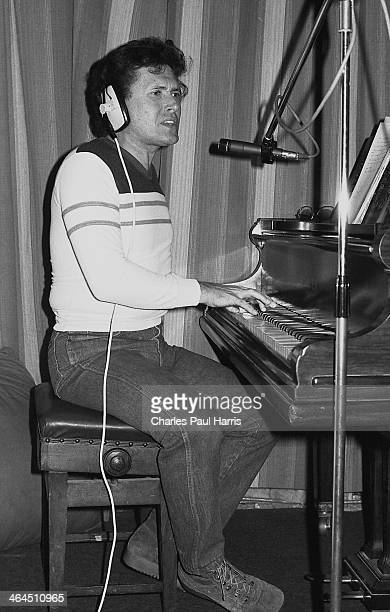 New Orleans rhythm and blues and rock'n'roll artist Frankie Ford at Livingston Studios Wood Green on April 3 1984 in London UK