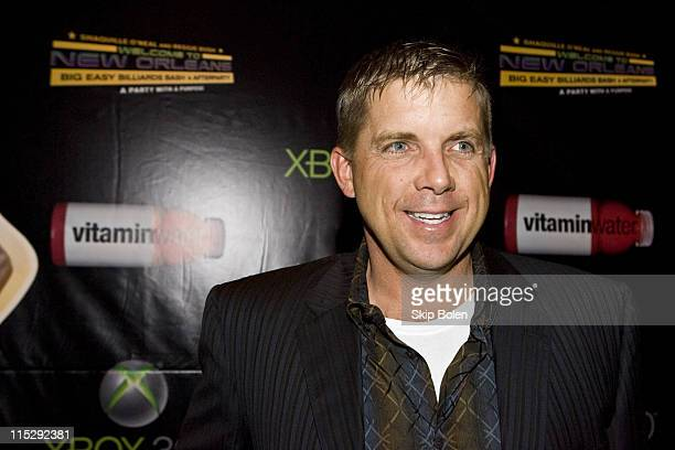 New Orleans Saints coach Sean Payton attends the 2008 NBA AllStar Shaquille O'Neal and Reggie Bush 'Welcome to New Orleans' Big Easy Billiards Bash...