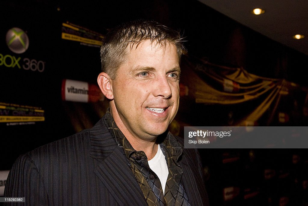 New Orleans Saints coach Sean Payton attends the 2008 NBA All-Star Shaquille O'Neal and Reggie Bush 'Welcome to New Orleans' Big Easy Billiards Bash and After Party sponsored by Xbox 360 in the Ballroom of the Hilton New Orleans Riverside on February 15, 2008 in New Orleans, Louisiana.