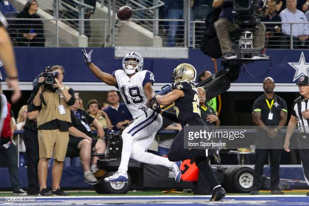 New Orleans Saints Cornerback Marshon Lattimore is called for pass interference against Dallas Cowboys Wide Receiver Amari Cooper in the end zone...