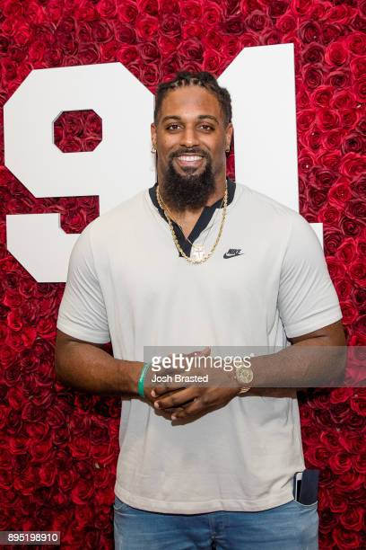 New Orleans Saints defensive end Cam Jordan poses for a photo at the Celebrity Server Event benefiting the Irving Morris Foundation at Morton's...