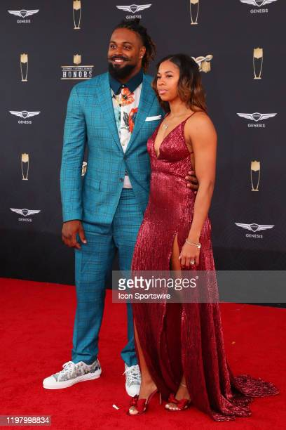New Orleans Saints Defensive end Cam Jordan poses prior to the NFL Honors on February 1 2020 at the Adrienne Arsht Center in Miami FL