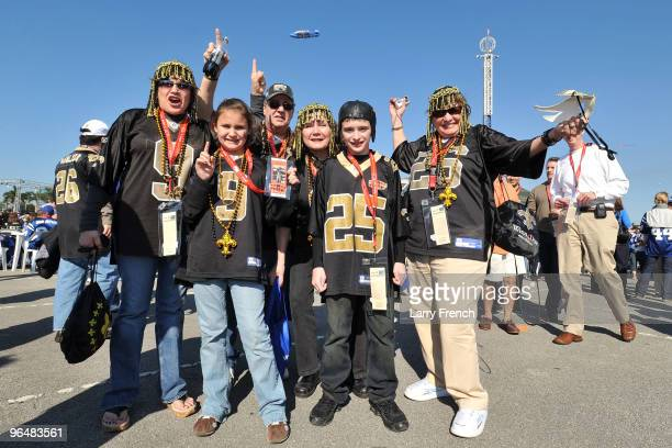 New Orleans Saints fans arrives at Super Bowl XLIV between the Indianapolis Colts and the New Orleans on February 7 2010 at Sun Life Stadium in Miami...