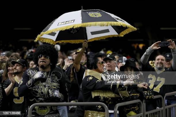 New Orleans Saints fans cheer in the NFC Championship game between the Los Angeles Rams and the New Orleans Saints at the MercedesBenz Superdome on...