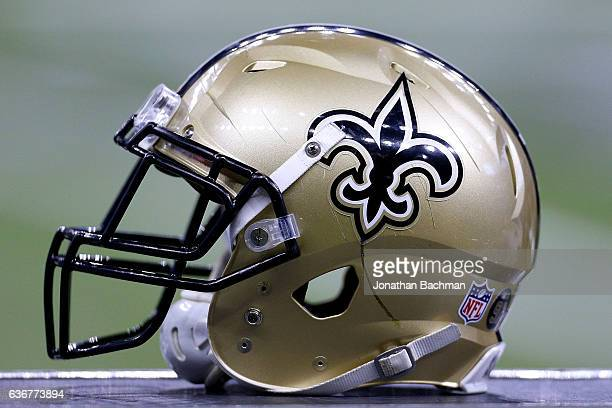 2cfdacf27de New Orleans Saints helmet is seen during a game against the Tampa Bay  Buccaneers at the