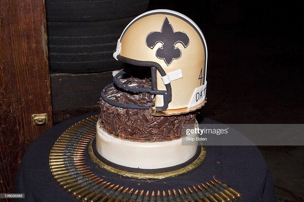 Terrific Nfl New Orleans Saints Player Roman Harpers Birthday Cake At Personalised Birthday Cards Veneteletsinfo