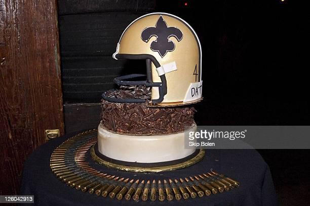 NFL New Orleans Saints Player Roman Harpers Birthday Cake At Activisions Call Of Duty Black Ops