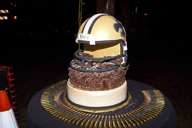NFL New Orleans Saints Player Roman Harpers Birthday Cake At Activisions Call Of Duty Black