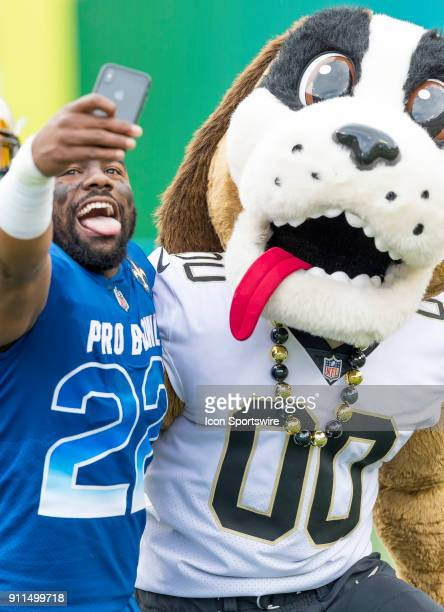 New Orleans Saints running back Mark Ingram During the introductions NFL Pro Bowl match between the AFC NFC on January 28 2018 at Camping World...
