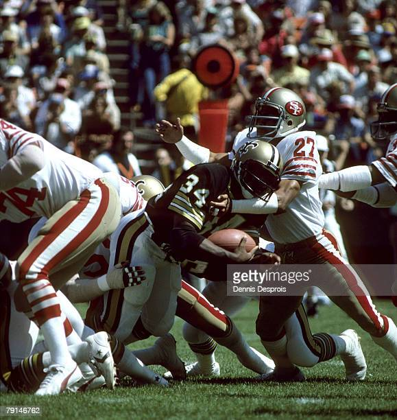 New Orleans Saints running back Tony Galbreath runs into San Francisco 49ers cornerback Tony Dungy during a 30-21 Saints victory on September 23 at...