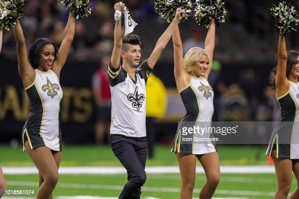New Orleans Saints Saintsation first male Saintsation Jesse Hernandez in an NFL preseason football game between the New Orleans Saints and the...