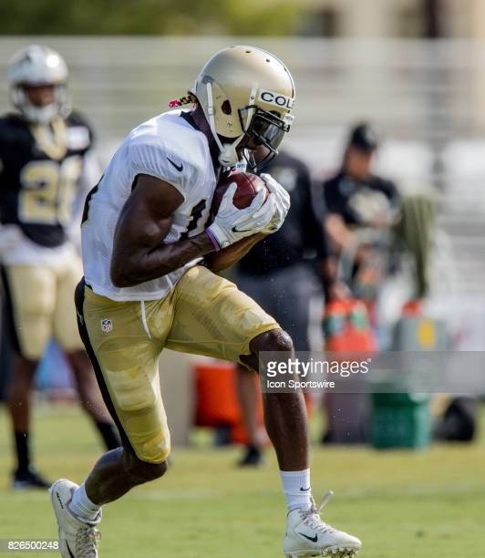 New Orleans Saints wide receiver Brandon Coleman works out during Training Camp on August 04 at the Ochsner Sports Performance Center in Metairie LA