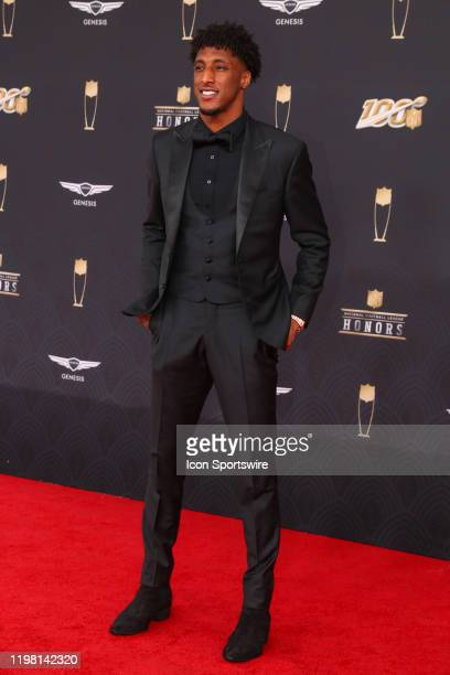 New Orleans Saints wide receiver Michael Thomas poses on the Red Carpet prior to the NFL Honors on February 1 2020 at the Adrienne Arsht Center in...